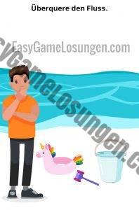Überquere den Fluss Easy Game